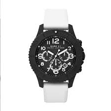 marc by marc jacobs metal rock chrono matte black and white watch gallery