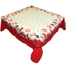 vinyl round tablecloth with elastic edge 48 backed fabric