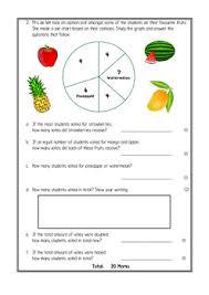 Maths Assessment Tally Chart And Pie Chart