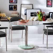 Glas Esstisch Tauranga In Weiß Chrom Wohnende