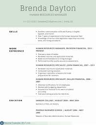 Human Resource Manager Resume Template Collection Agent Resume
