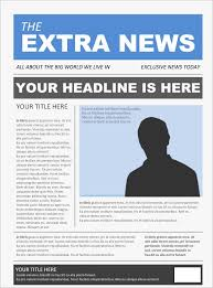 Newspaper Front Template Free Newspaper Template 20 Free Word Pdf Psd Indesign