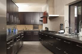 Wonderful Dark Kitchen Cabinets Colors Semimatte Like These Provide On Decorating