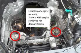 diy how to change engine mounts mercedes benz mb medic location of engine mounts