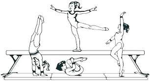 Gymnastics Coloring Page Gymnastic Woman Gymnastic Coloring Page