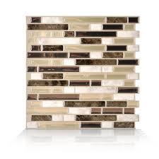 smart tiles bellagio bello beige 10 06 in w x 10 00 in h l and