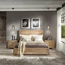 details about rustic gray barn queen size solid wood panel bed farmhouse driftwood finish