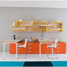 modern office walls. plain office orange color matching with modern office walls