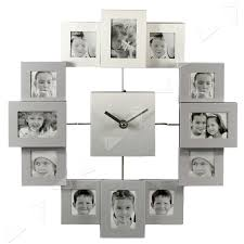 ture frame wall clock arsmart info majestic looking multi aperture time collage pro large modern silver