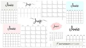 You may customize it the way you want it. Cute Free Printable June 2021 Calendar Saturdaygift