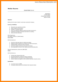 Welder Resume Examples 9 Welding Simple Print Likewise Cover Letter