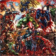 dc comics marvel comics superhero collection