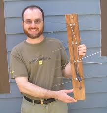 don cross holding his home made hdtv antenna