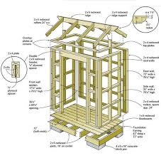 garden tool shed plans 01 floor wall frame