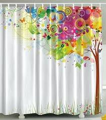 tree of life shower curtain color bursting tree of life colorful past creative design modern style