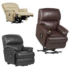 canterbury dual motor leather riser recliner chair