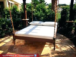 round floating bed outdoor floating bed round hanging frame swing daybed floating bedside shelf grey