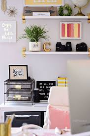 home office colorful girl. Decorating A Shared Office, With Colorful Industrial Style. Her Side Is Pink And Gold Home Office Girl