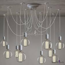 gracefully white 10 light industrial style multi light led pendant swag pendant lighting