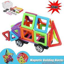 64pcs colorful magnetic building blocks kids construction educational toys gift intl esr1e9qj