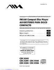 aiwa cdc x444 manuals aiwa cdc x444 operating instructions manual