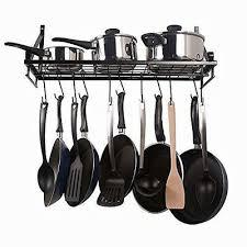 90cm kitchen wall mounted pan pot rack