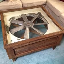 Industrial Fan Coffee Table Amazing Industrial Fan Repurposed Into A Coffee Table Https