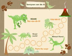 Dinosaur Reward Chart And Stickers Printable Reward Chart For Children By Tagalongadventure On