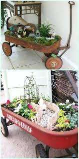 wagon fairy garden wagon fairy garden instruction wheelbarrow miniature garden projects gypsy wagon for fairy garden