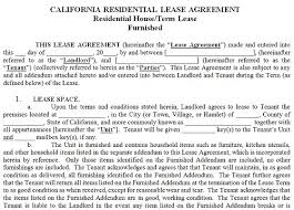 residential lease agreements california california rental agreement template california residential tenancy