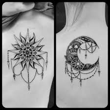 Sunmoon Sister Tattoos Done By Rabbit At Ascending Lotus Tattoo