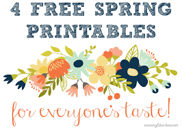 Free Spring 4 Free Spring Printables For Everyones Taste Mommy Like Whoa