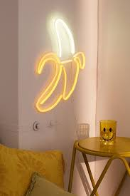 Neon Lights Urban Outfitters Banana Neon Sign Neon Signs Neon Sign Bedroom Neon