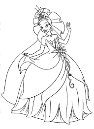 Disney Princess Tiana Printable Coloring Pagesl L