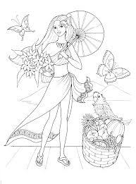 Fashionable Girls Coloring Pages 1 Gif