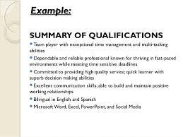 Resume Qualifications Inspiration Resume Qualifications Example Resume Qualification Sample