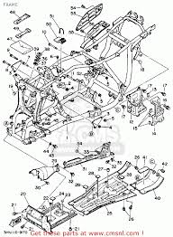 Yamaha yfm350fww 1989 big bear frame buy original frame spares online
