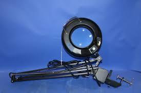 ledu l745bk fluorescent swing arm magnifier lamp