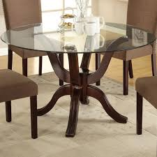 round dining table glass top