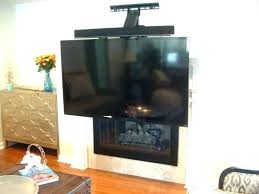 mounting tv above fireplace hiding wires ing mount brick hide ed