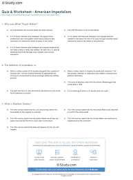 Reasons For Imperialism Quiz Worksheet American Imperialism Study Com