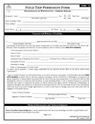 Sample Field Trip Permission Slips 32 Printable Parent Permission Form For A Field Trip