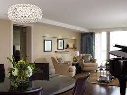 modern crystal chandelier spaces contemporary with apartment art built ins bath