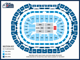 Pepsi Center Seating Chart Hockey Awesome Pepsi Center