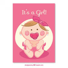 Babygirl Cards Baby Girl Card Vector Free Download