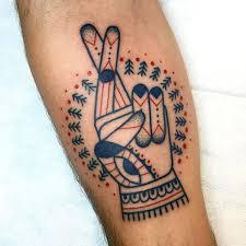 50 Prstů Křížené Tetování Vzory Pro Muže Ruka Gesta Inkoustové Nápady