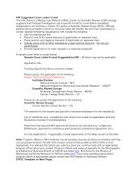 nih resubmission cover letter example nih cover letter samples roberto mattni co