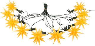 herrnhuter moravian star chain a1s yellow plastic 12m 13yard