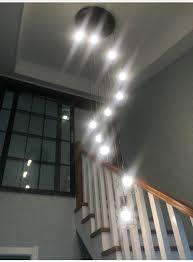 Us 1344 16 Offmoderne Einfache Treppe Esszimmer Kronleuchter Restaurant Kreative Persönlichkeit Villa Doppel Dreh Treppen Lampe Anhänger Lampe In