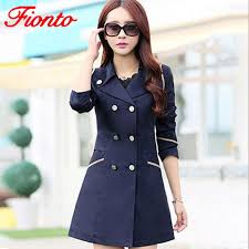2019 fionto trench coat women 2018 turn down collar casual trench coat female solid long slim double ted coats a034 1 from movearound 26 07 dhgate